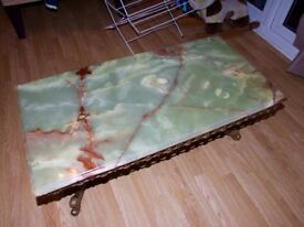 Large Vintage Onyx Topped Table