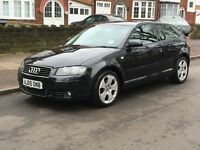 AUDI A3 DIESEL SPORT 2005 AUTOMATIC LOTS OF SERVICE HISTORY BILLS THREE OWNER 2 KEYS P/X WELCOME