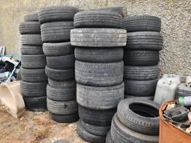 X60 worn scrap tyres, ideal for go kart track etc