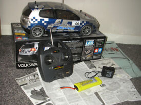 Tamiya Volkswagon Golf GTI Cup LED Car + Radio Gear + Slow Charger + Battery