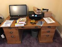 Large Desk. Roughly 5 ft by 2.5 ft