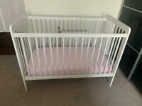 Johnlewis Baby Cot bed and mattress