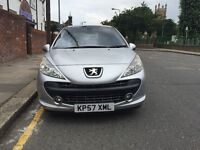 Peugeot 207 1.4 Se 2007, Panoramic sunroof, AC, Beige Cloth Interior, Full Service History