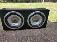 Sony xplod twin sub and Hi Fonics amp