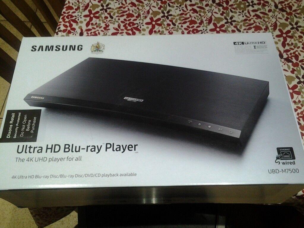 New Samsung Ultra HD BLU-RAY PLAYER UBD -M7500.
