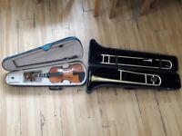 Trombone and violin