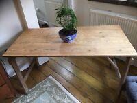 Antique Pine Trestle Table