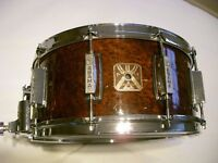 """Asama Percussion plywood snare drum - 14 x 6 1/2"""" - Tama King Beat style - 1970s"""