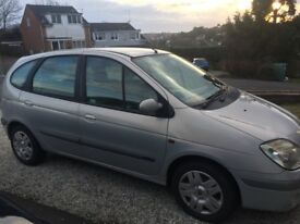 Renault Scenic, Silver, 2002, 68,500 Miles Good Condition