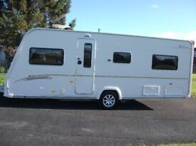 FIXED BED 4- BERTH BAILEY SENATOR INDIANA CARAVAN,EXCELLENT CONDITION WITH AWNING