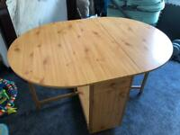 FREE fold up table with draws. Easily fit in back of car