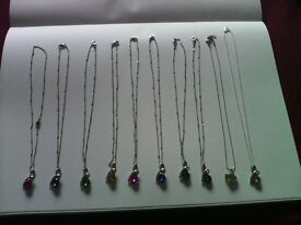 rhinestone pendents 10 for sale mixed colour £8.00 each