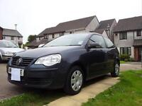VW Polo 1.2 2009 £3200 ono Full MOT Low mileage 70K 1 prev owner Full VW Service history and MOTs