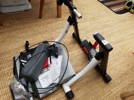 Volare cycle turbo trainer - almost new. + tyre stand, floor mat, sweat guard, instructions.