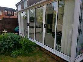 Patio doors 3 sets 6ft and 5ft