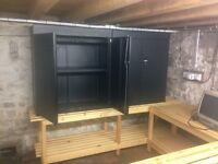 Black Metal Lockable Filing Cabinet Storage