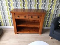 Solid oak sideboard. Height 90cm Width 110cm Deeapth 40cm. £120.00 pick up only