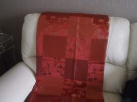 2 pairs of red 90x90 curtains