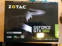 Zotac 4GB Nvidia Geforce GTX 960 Graphics Card - Boxed computer