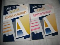 Letts A Level European History and A Level British History Study Guides - 2 for £3.00