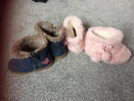 Infant Girls size 6 next boots & slippers