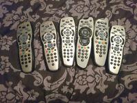 6 Sky TV Remotes