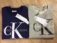 Calvin Klein Mens Full Sleeve Sweatshirt Big Print Jumper for Wholesale Only
