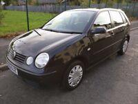 2003 VW Polo 1.2 5Dr - Black - 5 Months MOT - Low Mileage - Good Runner.