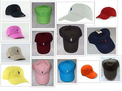 NWT New Polo Ralph Lauren Adjustable Strap Pony Logo Baseball Cap Hat 1 Size