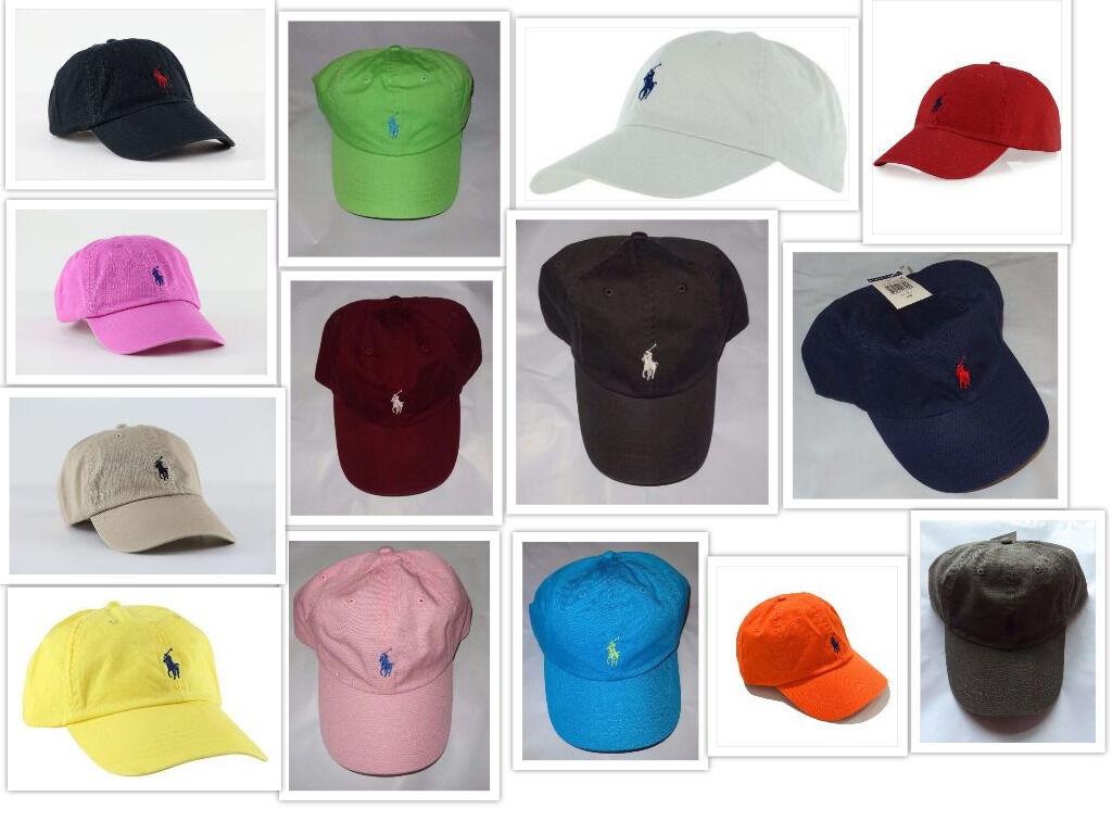 NWT New Polo Ralph Lauren Adjustable Strap Pony Logo Baseball Cap Hat 1 Size  아이템 넘버  141271145071.   b63638aa43ae
