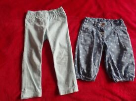 girls shorts and trousers NEXT 2-3 years