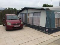 Spanish caravan home on the villa de mar camping site. for sale £18000 complete home from home