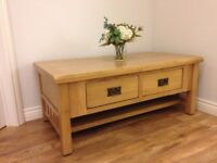 Oak effect coffee table. Sturdy piece of furniture.