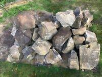 Rockery stones, approx 35