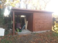 Garden workshop shed 4.5m x 1.9m (15ft x 6ft roughly)