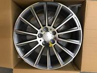 """MERCEDES 18"""" C63 ALLOY WHEEL NEW SET OF 4 STAGGERED"""