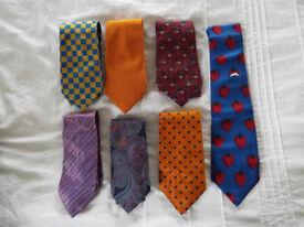 A Job Lot of 7 x Mens Silk Ties