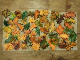 Autumnal leaves cake decoration