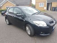 TOYOTA AURIS 1.6 TR VVT-i 5dr Hatchback Petrol Manual Black 2008,Warranted LOW Mileage with History.