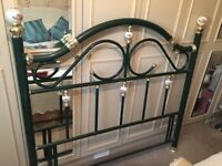 Metal headboard for double bed. Excellent condition