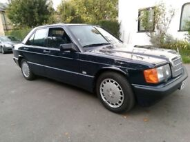 Mercedes 190E,2.6 litre ,2 Owners ,Full Service History,restored condtion,superb,automatic