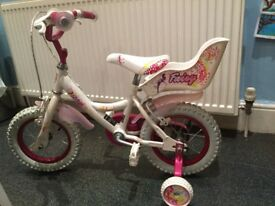 Bicycle for a girl -12 inch wheels-excellent condition