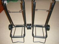 Two Carlton small suitcase carriers