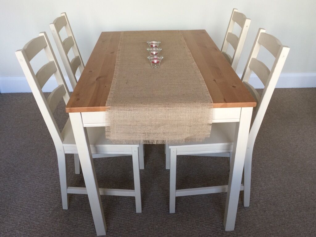 Dining Table And 4 Chairs Annie Sloan Old Ochre Cream