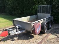 Ifor Williams GD84 Trailer with Ramp Twin Axle 8 x 4 + Bulldog Hitch Lock
