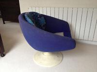 Rare 1960's Overman Swedish Swivel Egg Chair
