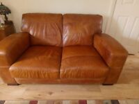 BROWN LEATHER SOFAS