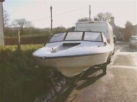 Fletcher bravo speed boat on trailer with engine