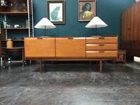 Mid Century Sideboard in Teak by Bath Cabinet Makers. Retro Vintage Mid Century. Danish Style