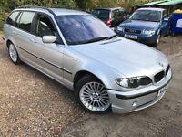 BMW 320D SE 1995cc Turbo Diesel Automatic 5 door estate 52 Plate 01/12/2002 Silver